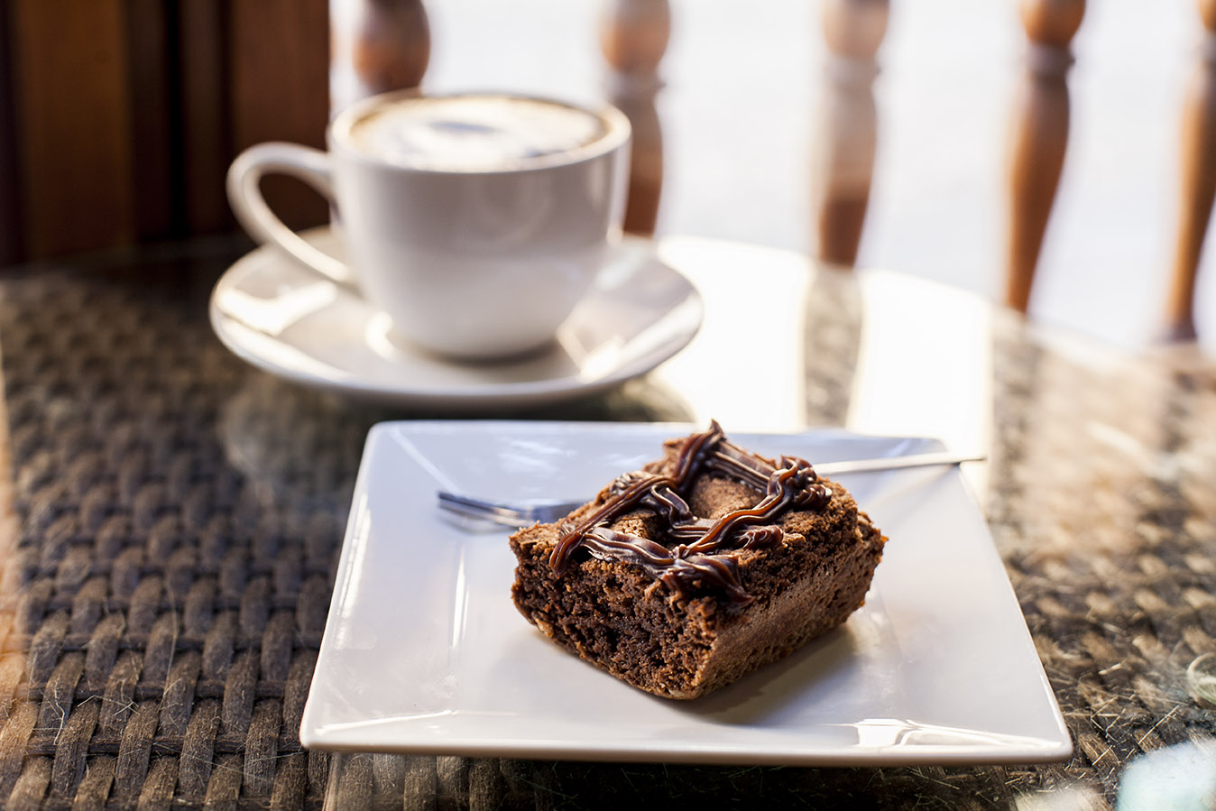 Brownie con capuccino